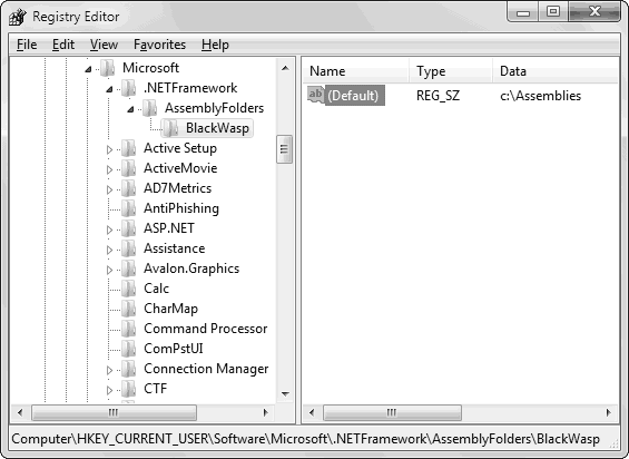 AssemblyFolders key in Registry