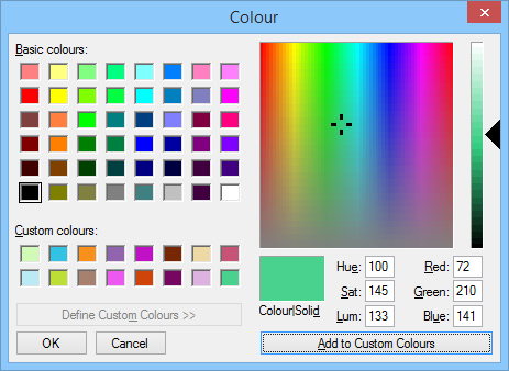 Expanded ColorDialog